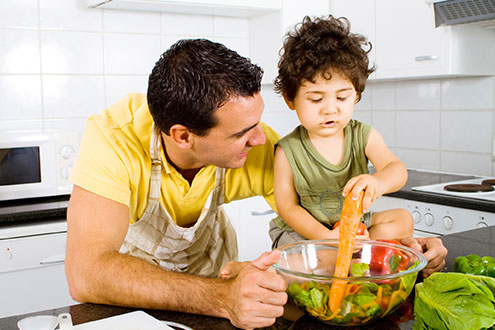 Cook with your children and make them eat vegetables!